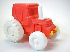 "Russian FARM TRACTOR plastic toy 6""=15cm Soviet era children USSR Vintage 70's"