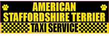 American Staffordshire Terrier Taxi Service Dog Sticker
