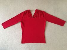 Ladies Red 3/4 Length Sleeve Top (size Medium)
