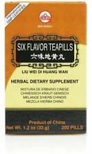 Min Shan, Liu Wei Di Huang Wan, Six Flavor Teapills, 200 ct