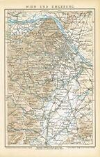 Karte von WIEN und UMGEBUNG 1895 Original-Graphik