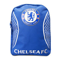 Chelsea FC Swerve Backpack Official Bag Football School Blue