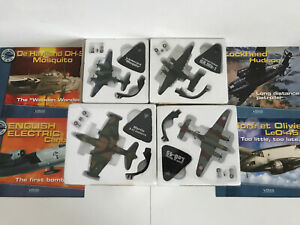 4 X Atlas Editions Die Cast Military Giants of the Sky Military Airplane Bundle-