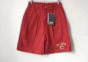 vintage cincinnati reds mirage baseball shorts mens size large deadstock NWT 90s