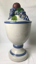 "Huge Ceramic Fruit Urn Centerpiece Finial Shape Craquelure Finish 18"" Tall"
