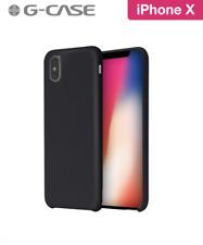 COQUE RIGIDE G-CASE ORIGINAL SERIES SILICONE IPHONE X SOFT TOUCH NOIRE BLACK