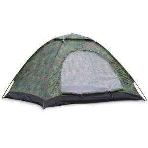 Outdoor Double Single Layer Camouflage Tent Tourist 2 People Waterproof Factor