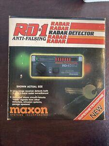 Vintage Maxon RD-1 Radar Detector Anti-Falsing Dual Superhetrodyne