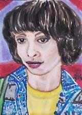 Finn Wolfhard Mike Wheeler ACEO Original Painting Stranger Things Season 3 Art