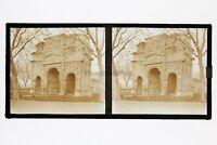 Arc Orange Francia Foto Stereo Placca Da Lente Vintage