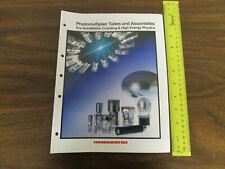 Hamamatsu Photomultiplier Tubes for Scintillation Catalog 68pp 1993