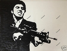 Scarface Al Pacino Oil Painting Hand-Painted Pop Art on Canvas NOT Print Poster