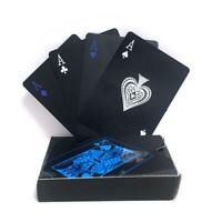 Black Playing Cards Deck Magic Card Plastic Foil Poker Waterproof Cards Pack