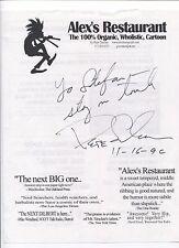 Peter Sinclair Signed Sheet Autographed Alex's Restaurant Comic