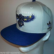 ADIDAS ORIGINALS ATLANTA HAWKS BLUE/KHAKI/PLAID FASHION STRAPBACK CAP/HAT