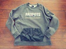 Nike NFL New England Patriots Men's Fleece Lined Pullover Sweatshirt Gray 2XL