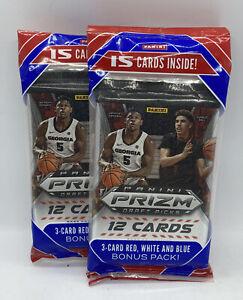 2 x 2020 Panini Basketball Prizm Draft Picks Cello Fat Pack 15 Cards Brand New!!