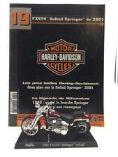 moto miniature harley davidson softail springer 2001 1/18 n19/50 fascicule