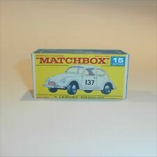 Matchbox Lesney 15 d Volkswagen VW 1500 Saloon empty Repro F style Box