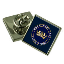 Royal Navy Golf Sterling Lapel Pin Badge