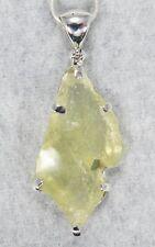 LIBYAN DESERT GLASS PENDANT $199 Tektite 925 Sterling Jewelry STARBORN LG199-P1