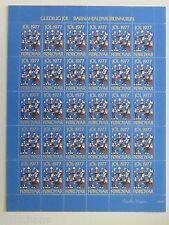 FAROE ISLANDS Christmas Stamp Seal 1977 MNH UNFOLDED