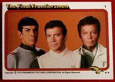 STAR TREK - MOVIE - Card #01 - THE FINAL FRONTIERSMEN - TOPPS 1979
