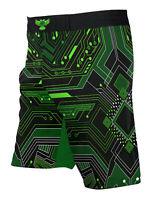 Raven Fightwear Men's Cybernetic BJJ MMA Shorts Green