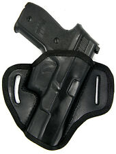 AKAR Black Leather Right Hand OWB OPEN TOP Belt Holster for S&W M&P 9 40 45