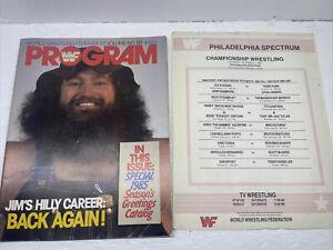 WWF WWE Program Volume 131 Hillbilly Jim Hulk Hogan Santana Andre Match Card!