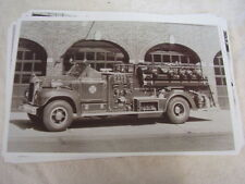 1950 'S MACK B FIRETRUCK WOODMERE NEW YORK   11 X 17  PHOTO   PICTURE