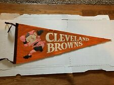 1950's Cleveland Browns Vintage Full Size Pennant Brownie The Elf