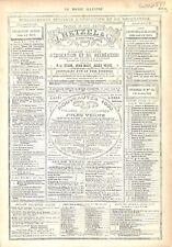 Paris Réclame Pub Editeur Libraire J.Hetzel & C Volume Jules Verne GRAVURE 1879