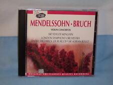 Mendelssohn Bruch: Violin Concertos By Sir Yehudi Menuhin 1993 CD EMI Encore USA