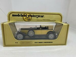 Matchbox Models of Yesteryear Y-4 1930 Model J Duesenberg Cream/Brown NEW