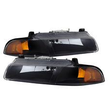 Dodge 95-00 Stratus Chrysler Cirrus Breeze Black Housing Replacement Headlights