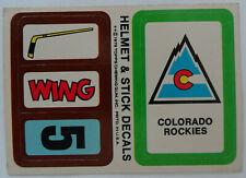 1979-80 Topps Hockey Stickers Colorado Rockies Team Hockey Card