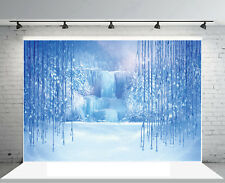 7X5 Frozen Waterfall Ice World Backdrop Photography Props Photo Background Vinyl