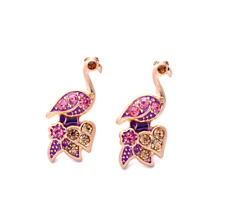 Hot! NEW Betsey Johnson Fashions Crystal bird earrings A325