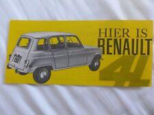 Renault 4L 4 page depliant / Prospekt / brochure / catalog ** VERY RARE **