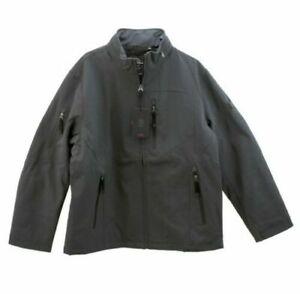 TUMI T Tech Mens Waterproof Zip Front Jacket Coat Dark Grey Size XL