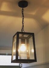 Vintage Urban Chic Black Metal Lantern Ceiling Pendant Light Fitting NEW Adjusts