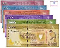 Sri lanka Banknote Full Set 6 PCS, 20,50,100,500,1000,5000 Rupees, 2010-2017,UNC