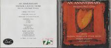 CD - AN ANNIVERSARY - SWANSEA BACH CHOIR SINGS MATHIAS MONTEVERDI etc.