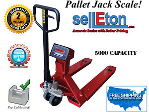 NEW Industrial warehouse truck / pallet jack scale with 5000 lb capacity x 1 lb