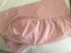 Bed Sheet Or Base Valance For A 4 Ft Bed In Pink BNWOT.