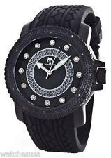 Techno Master Men's Black Dial Silicone Strap Watch TM-2128A-1