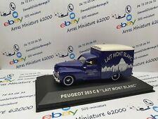 Peugeot 203 C 8 LAIT MONT BLANC    1:43 eme    avec boite plexi   (  neuf  )