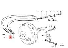 Genuine BMW 114 E12 E21 E23 Brake Master Cylinder Vacuum Hose OEM 34331115926