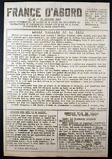 France d'abord n°39 de 1943 TTBE